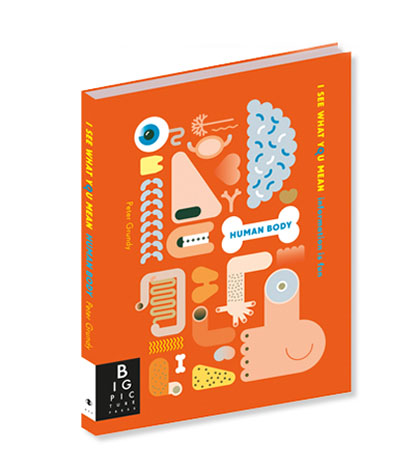 Information graphics Human Body book for kids