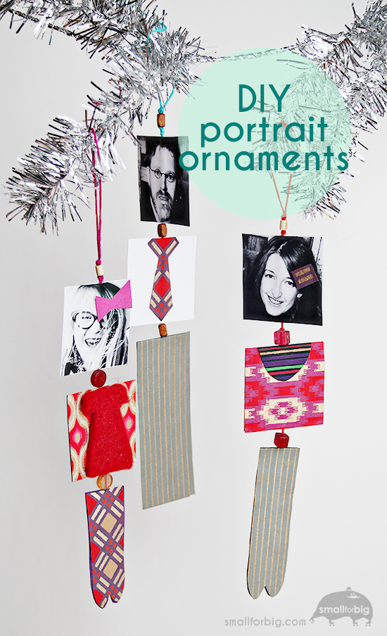 DIY Family Portrait Paper Ornaments - Christmas Crafts for Kids - Artterro Craft Kits | Small