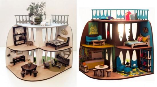 3 Star Studio laser cut wood dollhouse