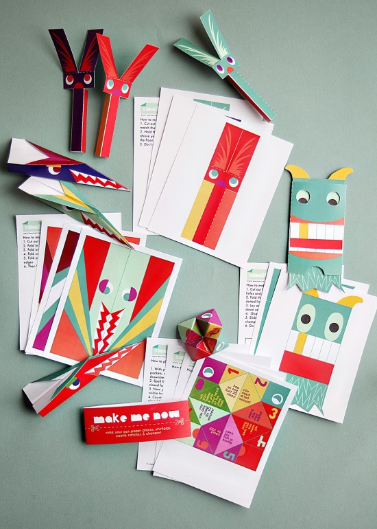 Stocking stuffers - Printable Paper Toy DIY Crafts for Kids on Christmas Break
