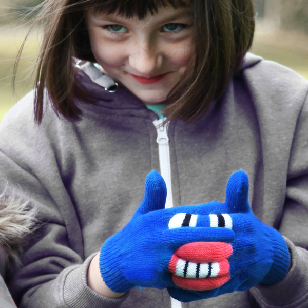 Warmsters monster puppet gloves for kids