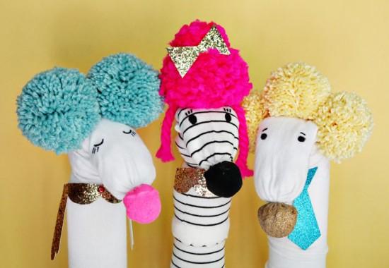 Happy Handmade DIY Craft ebook for kids - modern sock puppets