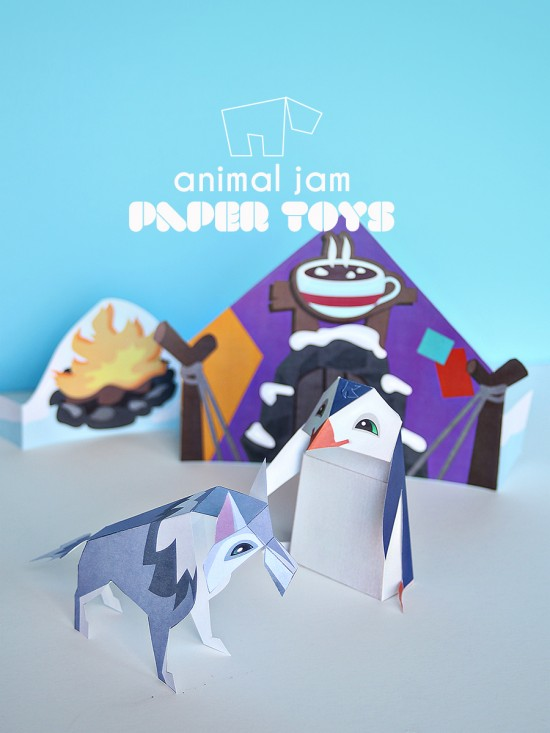 animal jam for national geographic for kids   printable paper toys diy