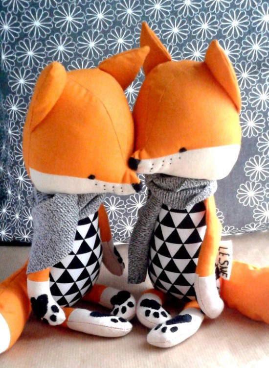 Handmade Stuffed Fox Toy on Etsy
