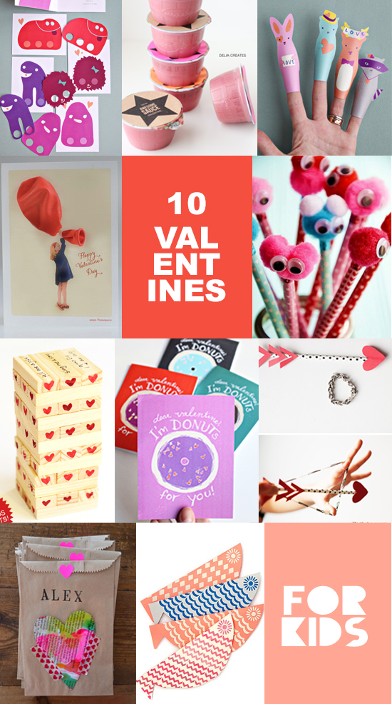 10 DIY Valentines for Kids - Valentines Cards for kids - Valentines Crafts | Small for Big
