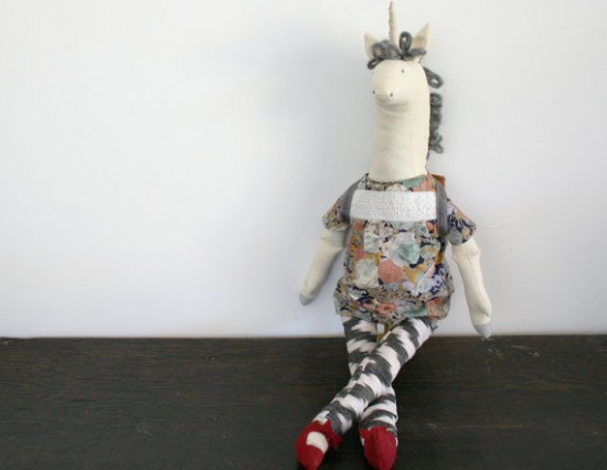 Stuffed Unicorn Toy - Lord and Little boho kids - hipster toys for kids | Small for Big