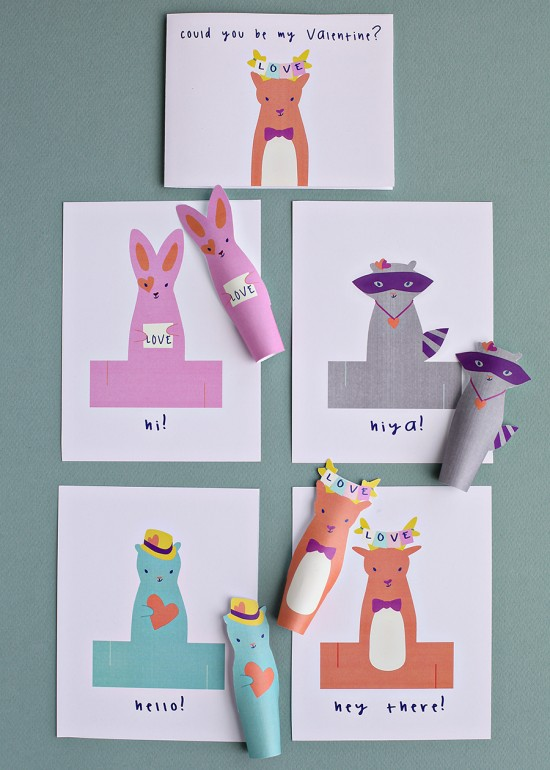 DIY Printable Paper Craft Projects for Kids - Valentines Crafts - DIY Kids Class Valentines
