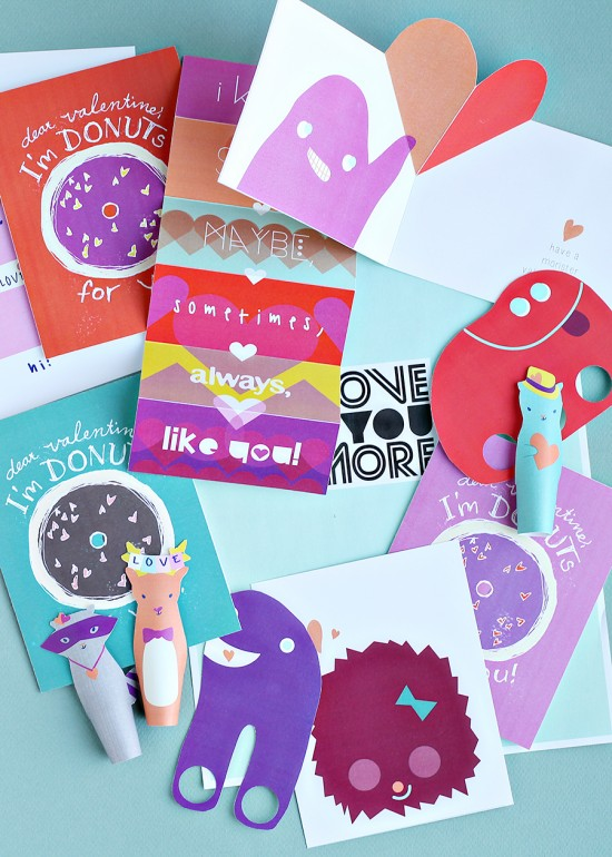 DIY Kids Class Valentines - Valentines Crafts for Kids - DIY Printable Paper Craft Projects | Small for Big
