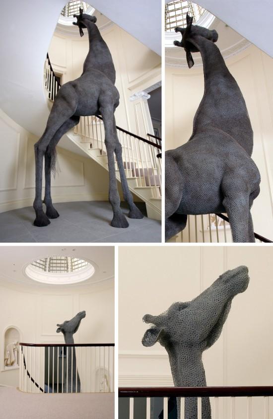 Kendra Haste chicken wire sculpture