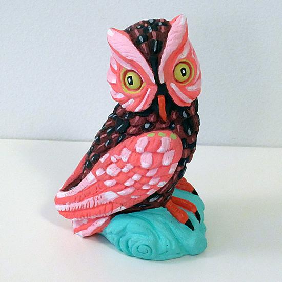 Jennifer Davis Art - Found object art - Painted Bird Sculptures | Small for Big