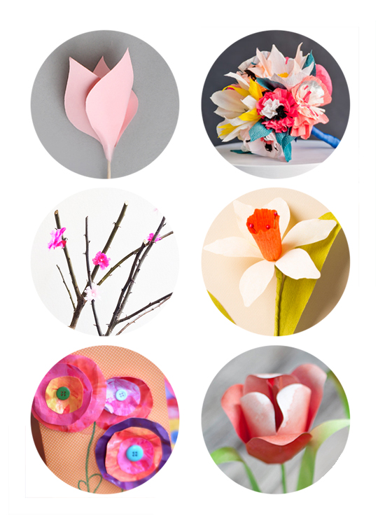 6 paper flowers diy craft projects to make this spring | Small for Big