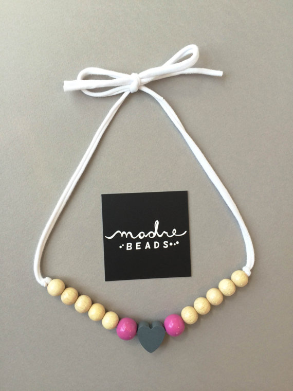 Madre Beads - Handmade eco geo beads - Modern Teething Necklaces | Small for Big