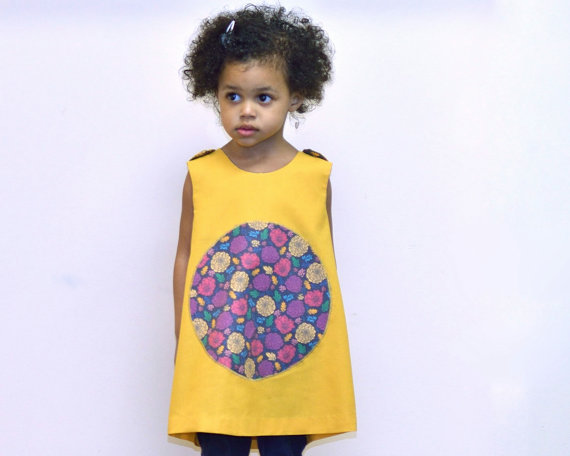 Sewn Natural Handmade Clothes - Spring Dresses for Girls - Reversible Kids fashion | Small for Big