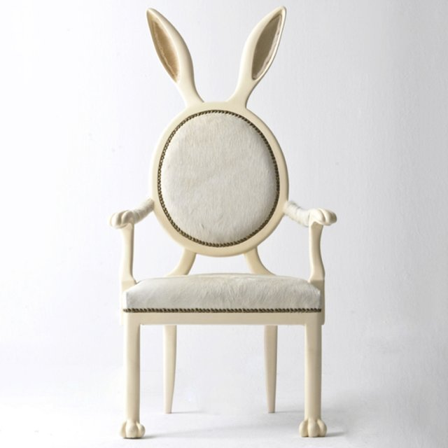 Rabbit Ears Dining Chair - Alice in Wonderland Decor - Merve Kahraman Products | Small for Big