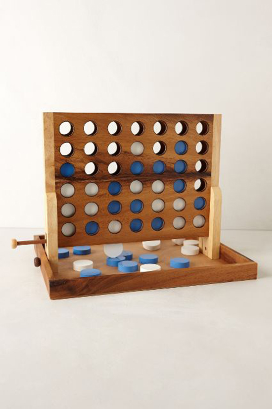 Connect Four in beechwood - Captain's Mistress Strategy Game from Anthropologie