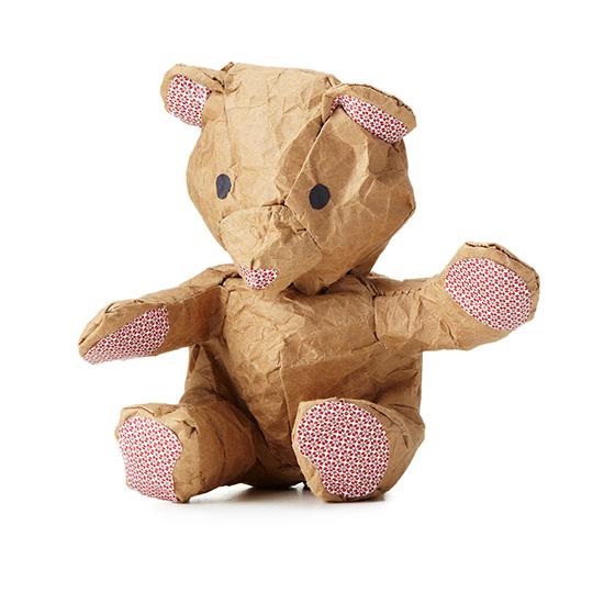 Crumple Bear Kit - DIY stuffed bear templates - Make your own paper bear | Small for Big