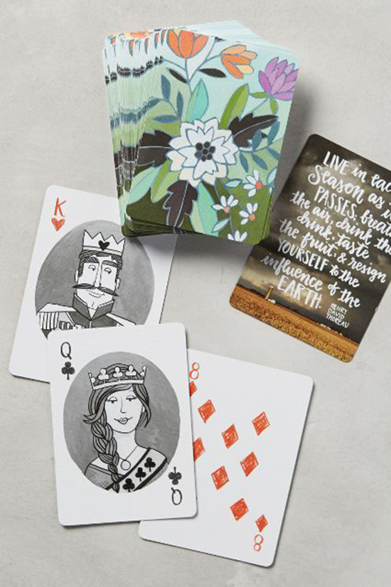 Antrhopologie Kids Gifts - Floral Playing Cards - Kids Toys from Anthro | Small for Big
