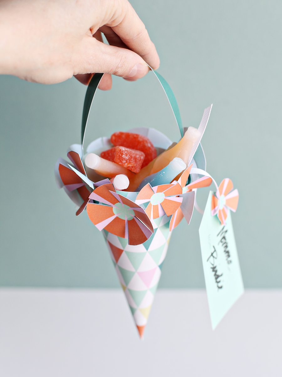 May Day Basket Printable - May Day DIY Craft for Kids - Spring Party Favor baskets | Small for Big