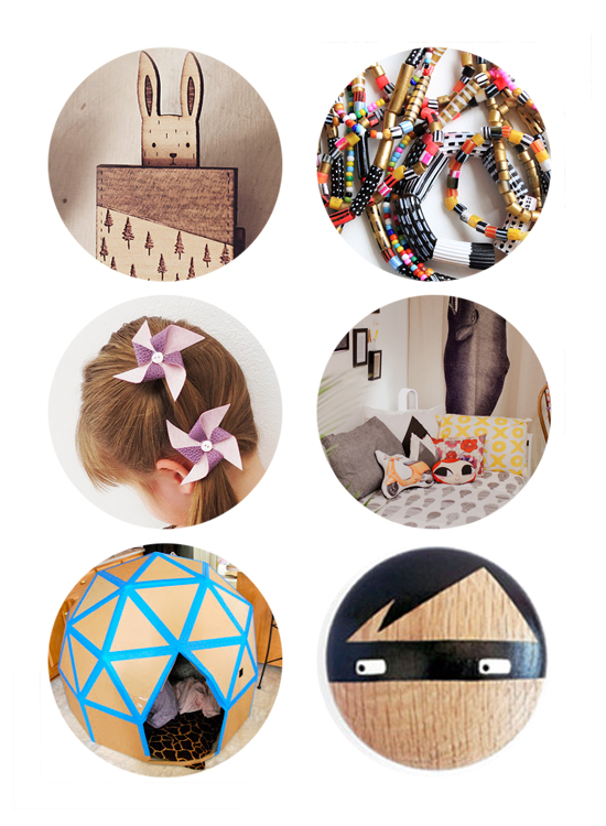 DIY Cardboard Dome Fort - modern pasta beads - DIY barrettes for girls | Small for Big