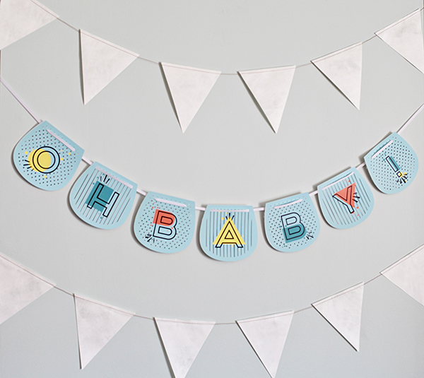oh baby banner diy baby shower decorations cricut explore