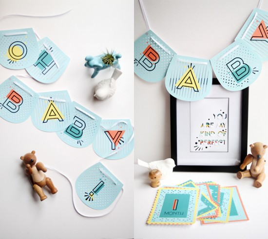 Banner   Baby Shower Craft Projects   Baby Printables   Cricut Explore