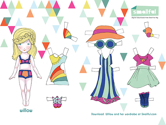 Willow Paper Doll - Smallful printable paper dolls - diy paper crafts for kids