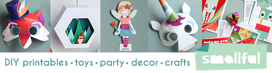 Smallful Printables - DIY Paper Craft Projects - toys, decor, holidays