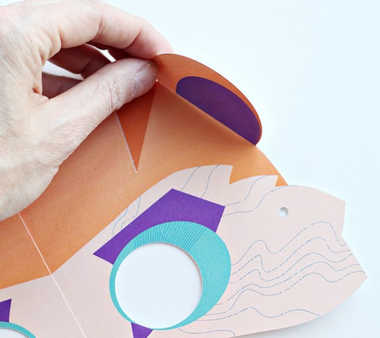 Printable Bear Mask - Mask Paper Craft for Kids - Cricut Explore Bear Paper Mask