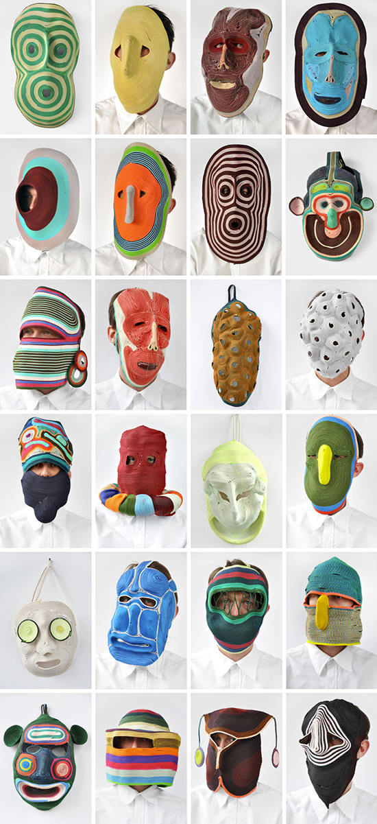Rope Masks - Artist Bertjan Pot - Artistic Masks and Wall Art   Small for Big