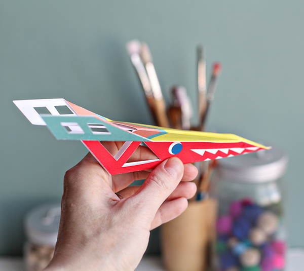 Printable Paper Plane How-to - Cricut Explore Paper Planes - Faster Paper Planes | Small for Big
