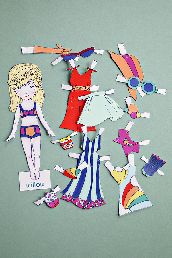 Willow Paper Doll Printable - DIY Paper Crafts for Kid s- Stylo Kids Fashion Magazine | Small for BIg