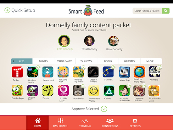 Smartfeed Media Service for Families - Kickstarter Kids Media - Kid-friendly Movie List | Small for BIg