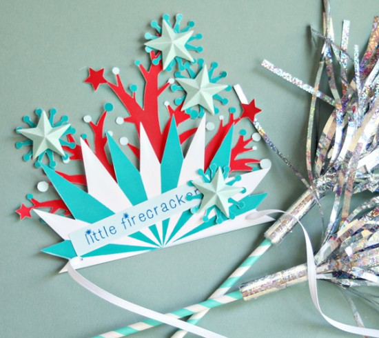 4th of JUly DIY for Kids - Printable paper crafts for kids - 4th of July crown
