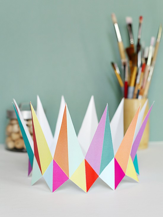 modern diy printable paper crown - birthday party crowns for kids - party favors
