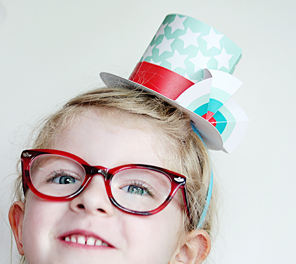 4th of july top hat for kids printable paper crafts for Tiny top hats for crafts