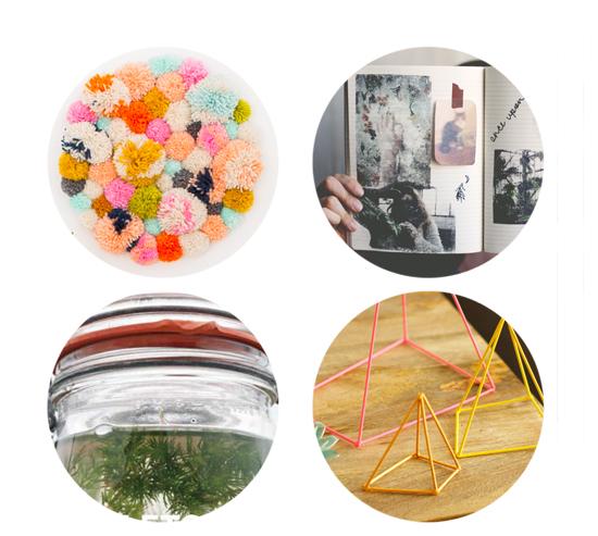 DIY Pom Pom Wall Hanging - DIY Biopshere - DIY Photo Transfers | Small for Big
