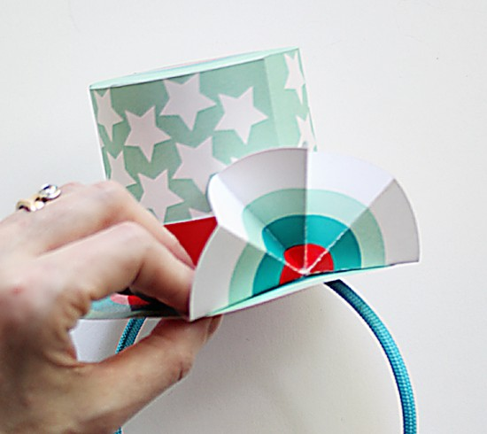 Printable 4th of July Top Hat - Paper Crafts for Kids - Patriotic 4th of July Hat DIY Project