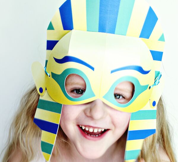 King tut mask craft diy king tut printable mask for Egyptian masks templates