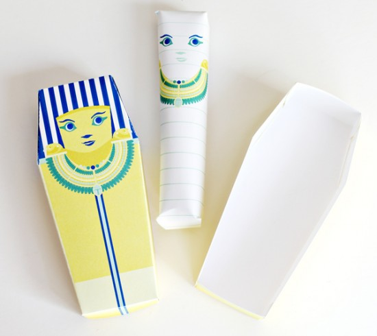 Party Favors - Egyptian Sarcophagus and Mummy DIY paper Craft for Kids and Cricut