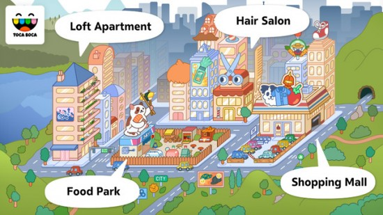 Toca Boca apps - Toca Life: City - Education Apps for Kids