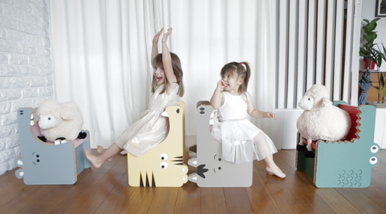 Gobble by Form Maker Fun wood chairs for Kids on Kickstarter
