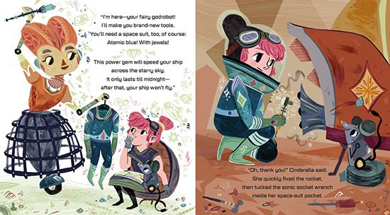 Interstellar Cinderella children's book - modern princess fairytale