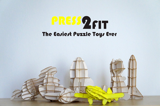 Press 2 Fit Wooden Puzzles - 3D construction kits for kids - 3D puzzle DIY kits | Small for Big