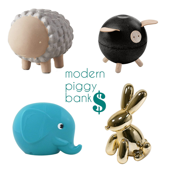 Top Modern Piggy Banks - How to help Kids Save Money - PIggy Banks for Kids | Small for Big