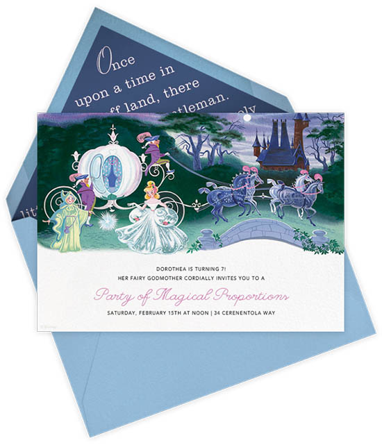 Paperless Post Disney Invitations - Kids BIrthday Invites - Cinderella