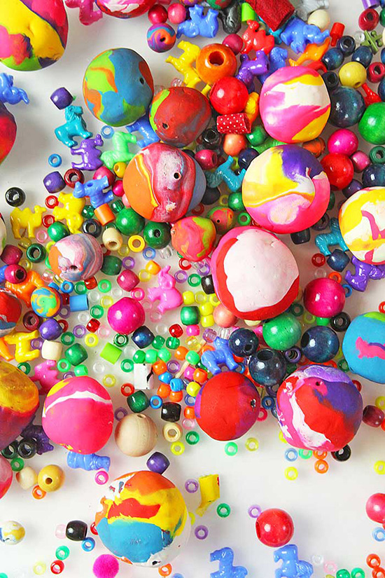 Giant Clay Beads - Polymer Clay Beads for Kids - Kids DIY Necklace | Small for Big