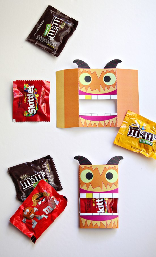 Halloween Candy Wrap Free Printable Monster Party Favor