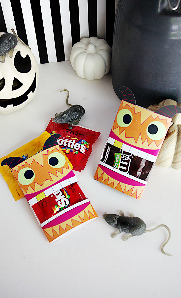 Free Printable - Halloween Candy Wrap - Monster Party Favor | Small for Big