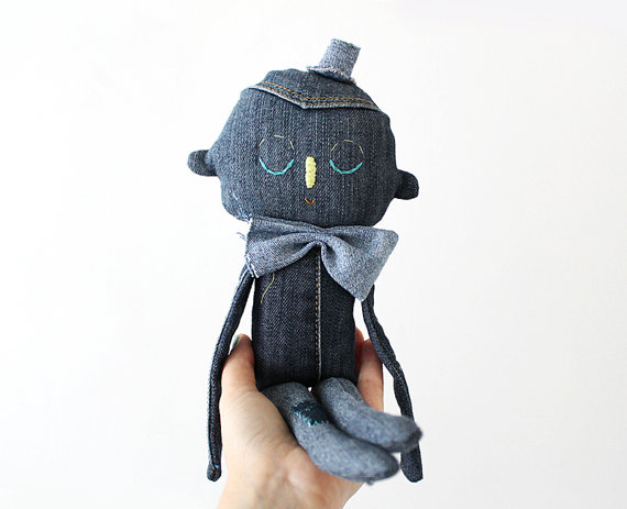Evie Barrow Designs - Denim stuffed Animals - Upcycled Toys | Small for Big