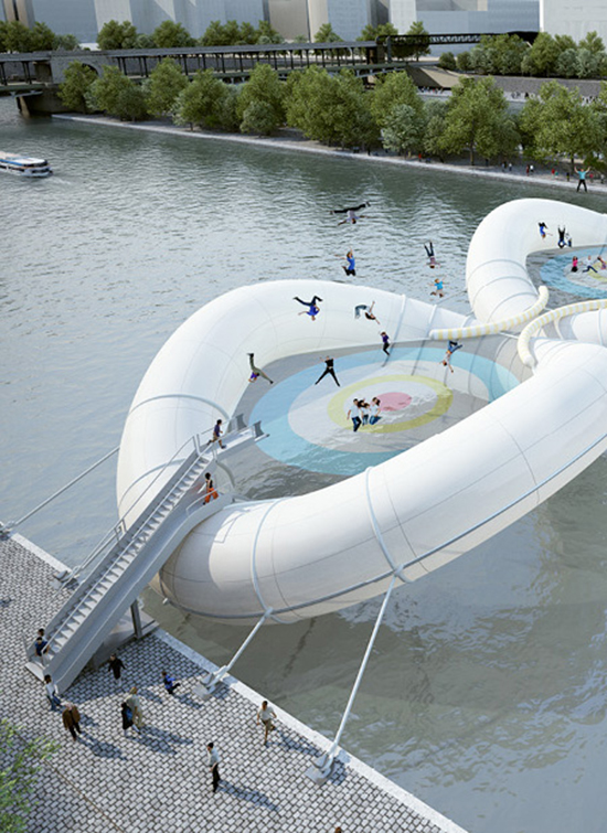 Trampoline Bridge - Bouncing Bridge - Paris, France landmarks | Small for Big